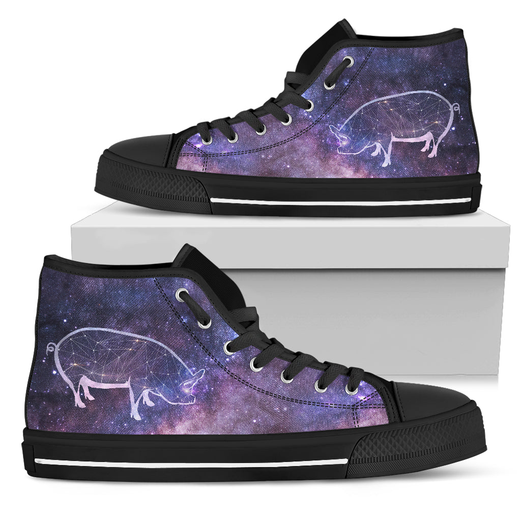 Pig Galaxy High Top Shoes
