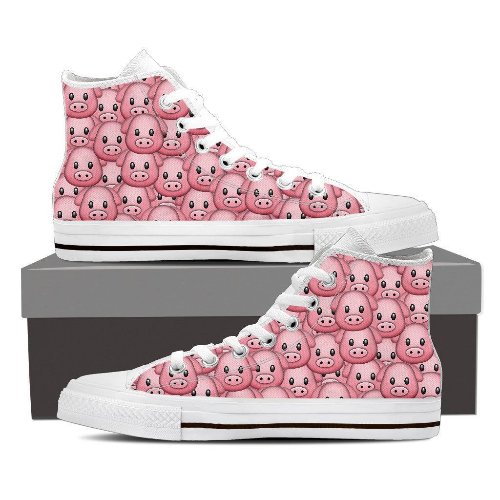 Women's Pig Emojis High Top Shoes