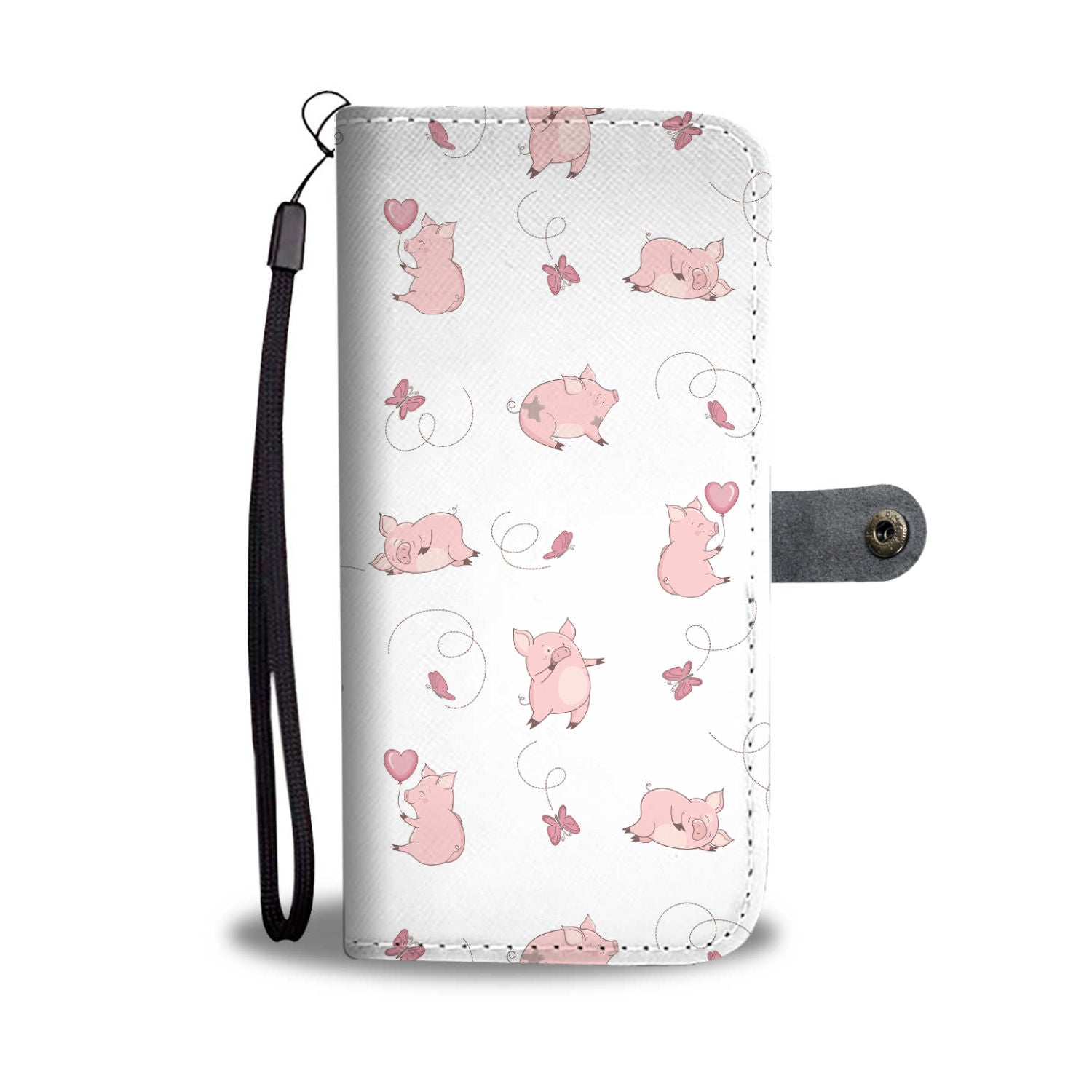Happy Piggies Phone Wallet Case