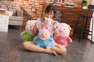 Cute Dressed Piggy Plush Toys