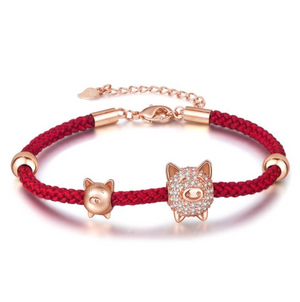Good Luck Red Pig Bracelet