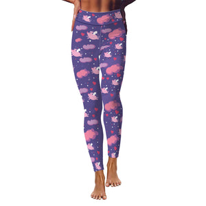 Flying Piggies Women's Yoga Leggings