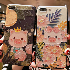 Piggies Silicone Phone Case