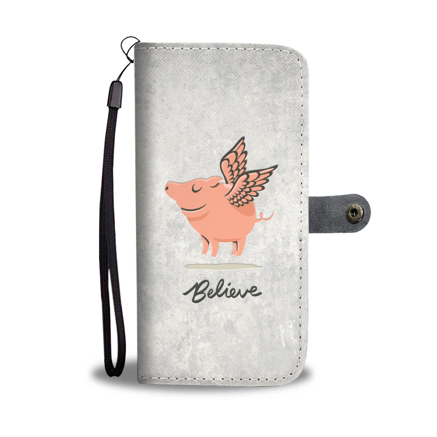 Believe Phone Wallet Case(White)