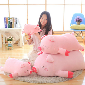Pink Piggy Plush Pillow