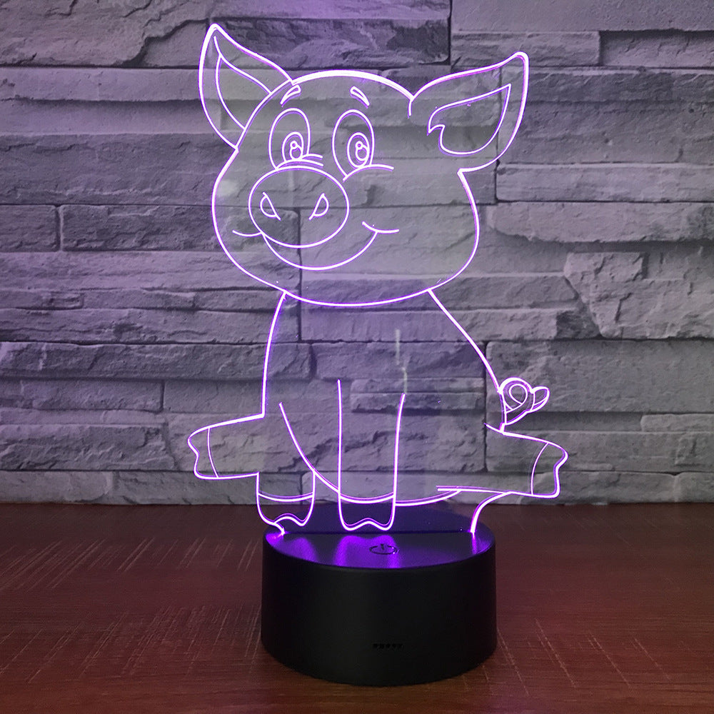 Lovely Piggy 3D Lamp(7colors)