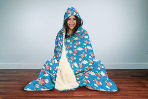 Flying Piggies Hooded Blanket