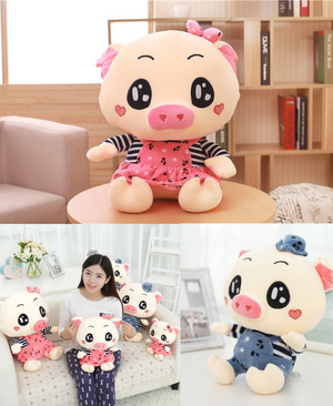 Cute Sitting Piggy Plush Toys