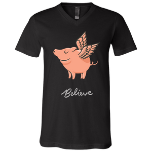 Believe Unisex V-Neck T-Shirt