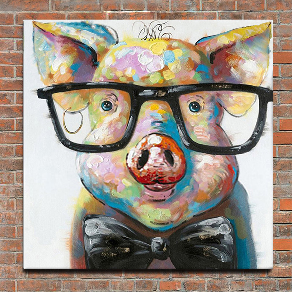 Piggy Canvas Painting