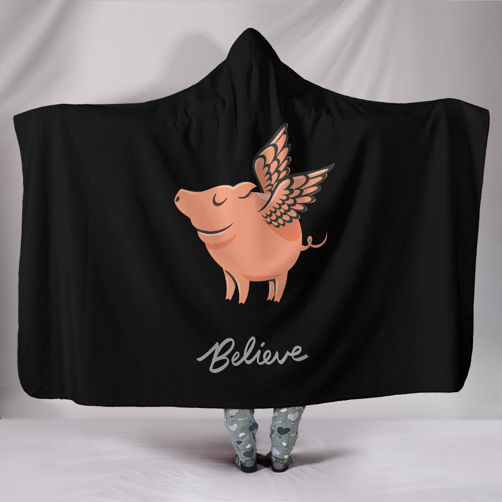 Believe Hooded Blanket