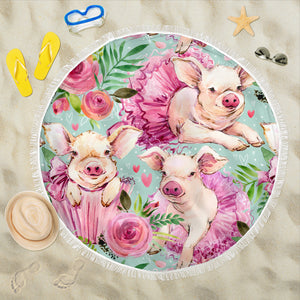 Beautiful Piggies Beach Blanket