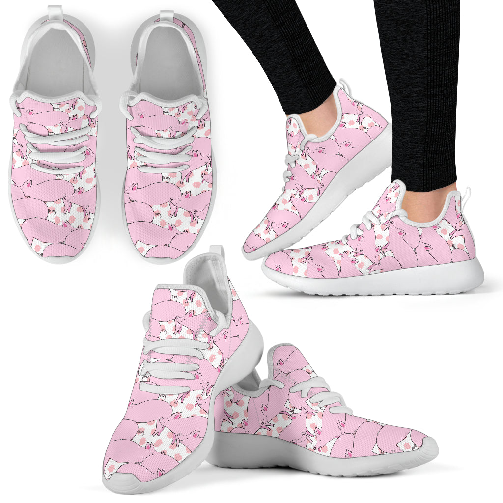 Piggies Mesh Knit Sneakers