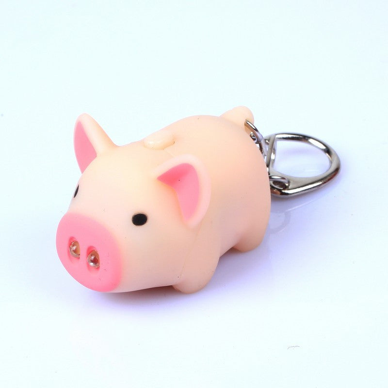 Pig Keychain With LED Flashlight - Piggies Can Fly 9475c940aca8