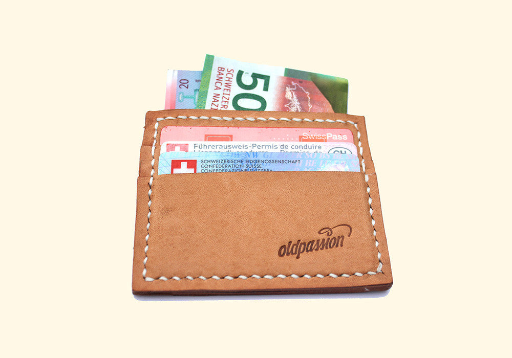 Credit Card Holder • nature • Pragmatisches Leder Kartenhalter Portemonnaie • oldpassion