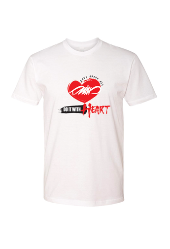 DO IT WITH HEART White T