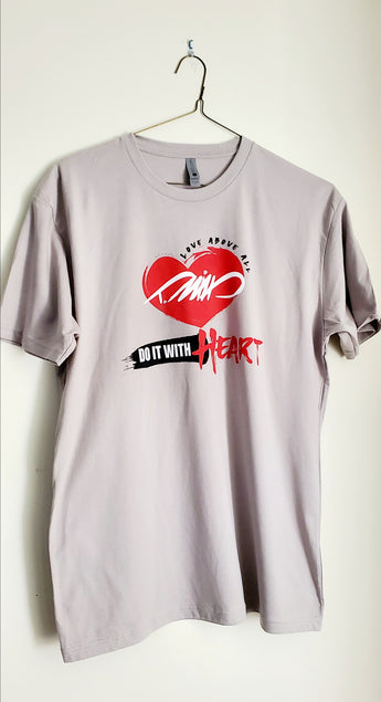 DO IT WITH HEART T (Grey)