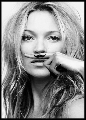KATE MOSS, LIFE IS A JOKE - POSTER - John Megir
