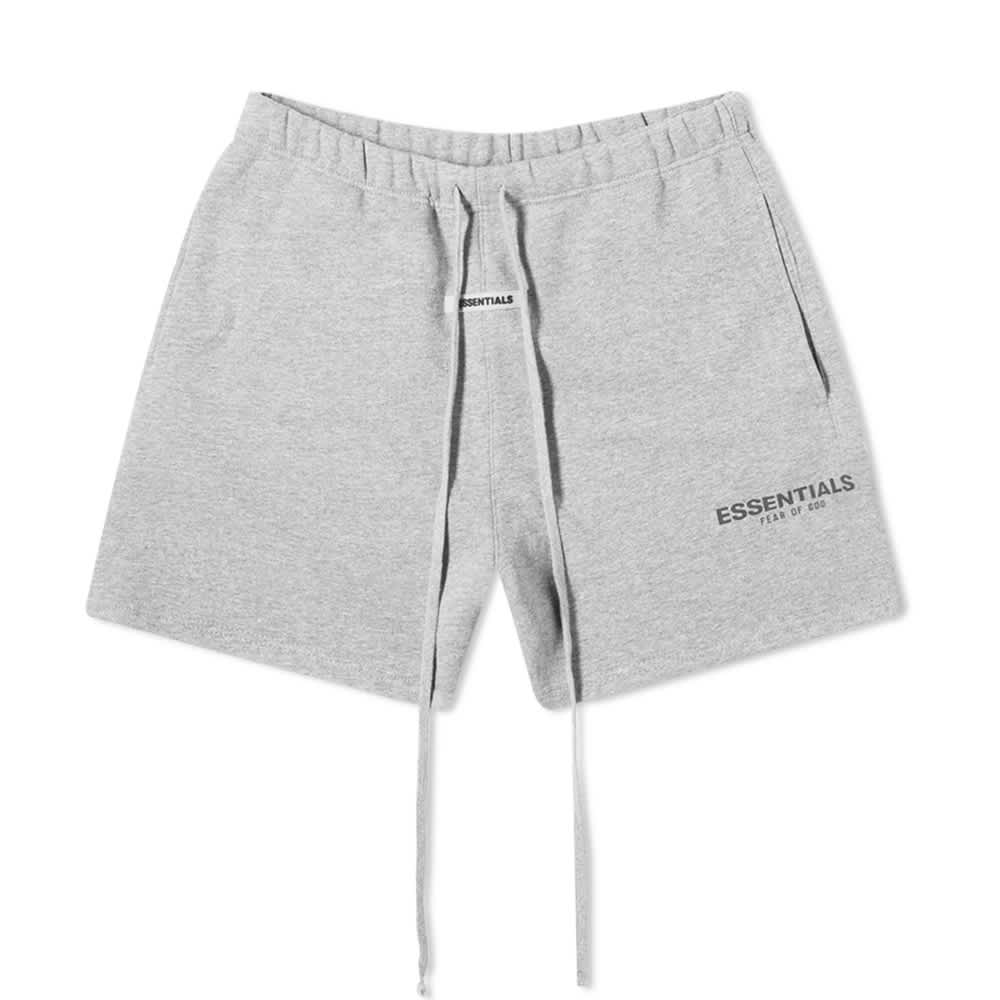 Fear of God Essentials Heather Grey Sweat Shorts