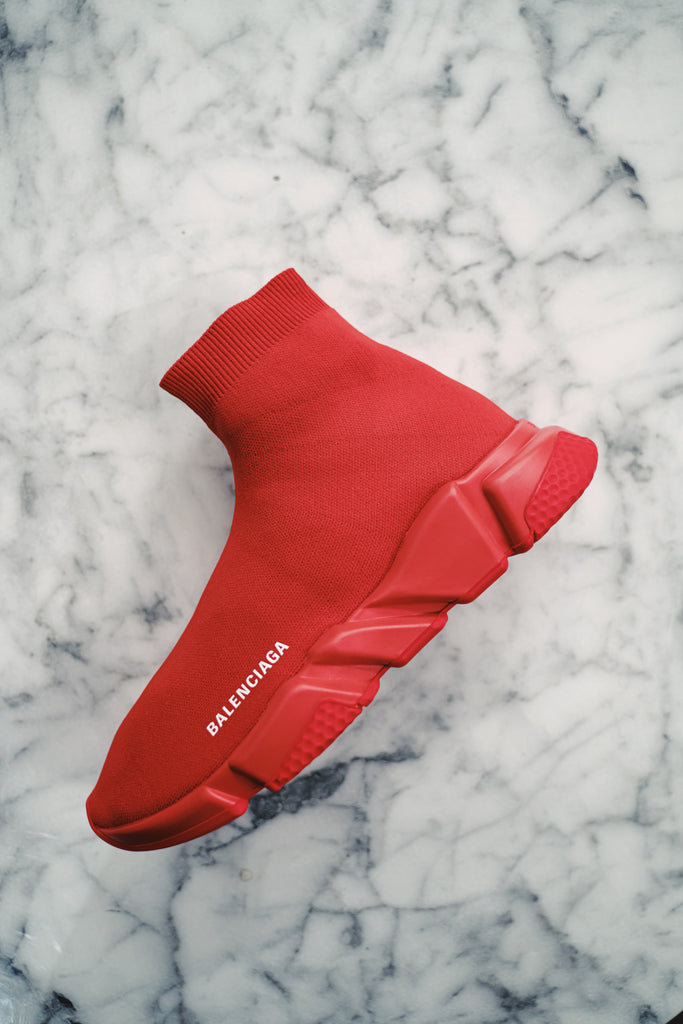 Balenciaga speed trainers Red