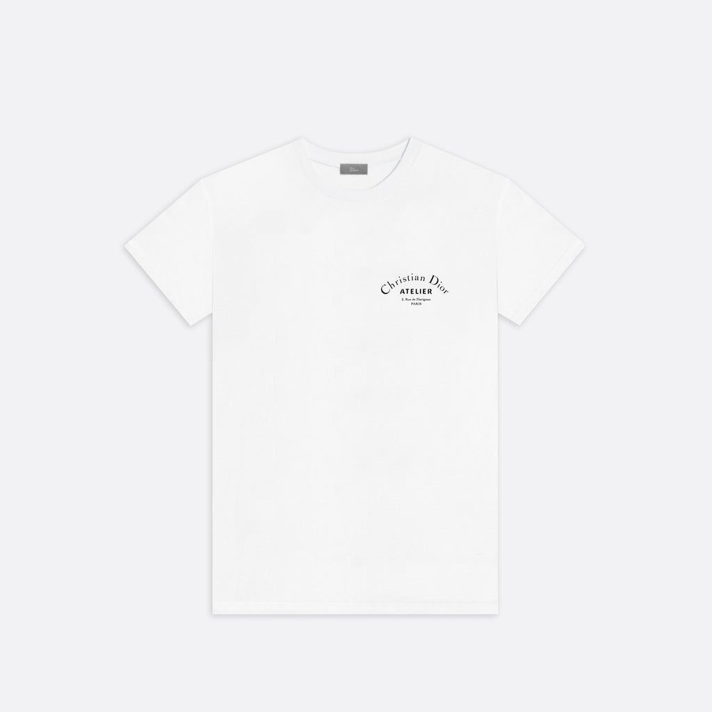 Christian Dior Homme White Christian Dior Atelier Short Sleeve T- Shirt