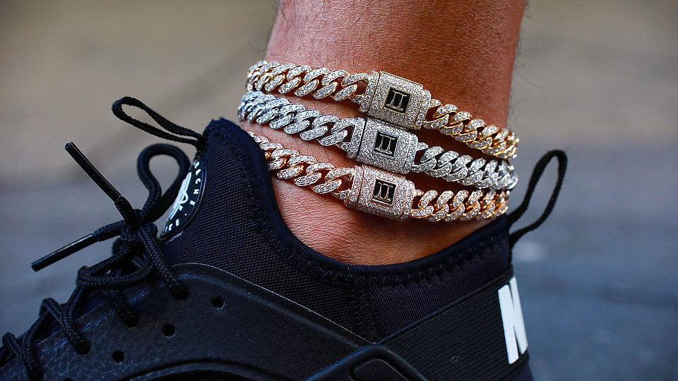 Cuban Diamond Link Bracelet Anklet by Greg Yüna