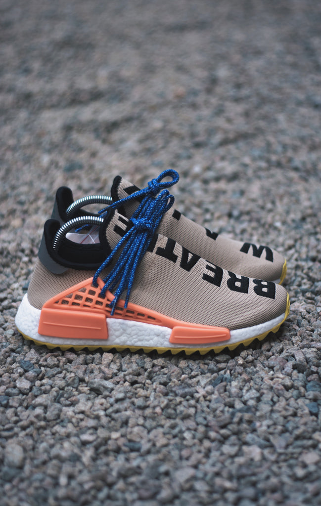 "4a70ac58afff Adidas x Pharrell Williams Human Race NMD ""Pale nude"""
