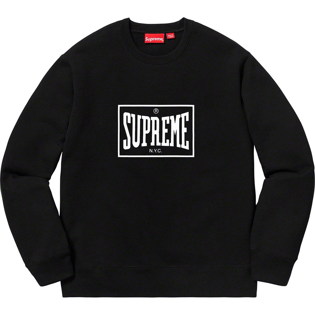 Supreme Warm Up Crewneck, Black
