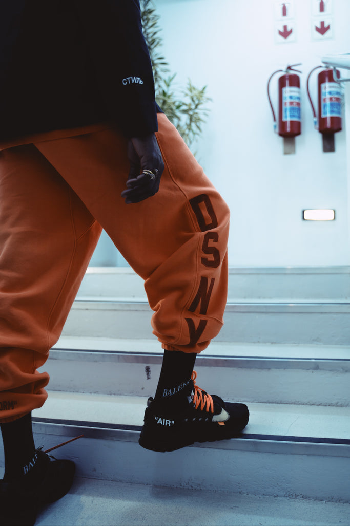 Heron Preston DSNY Sweatpants Orange
