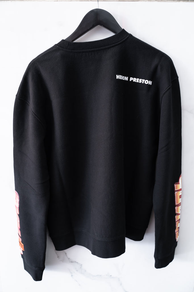 Heron Preston Chromed Crewneck Black