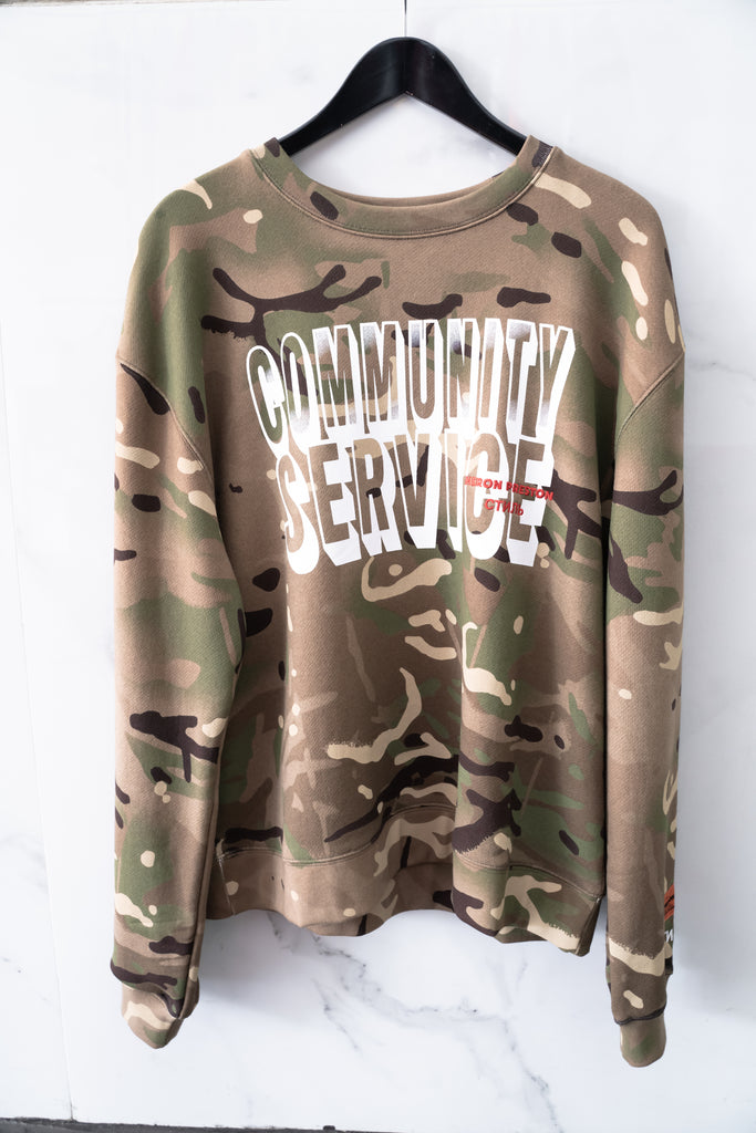 Heron Preston Com.Serv. Camo Sweatshirt No Color Multi