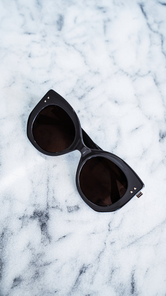 Fendi Brown Peekaboo Geometric Sunglasses
