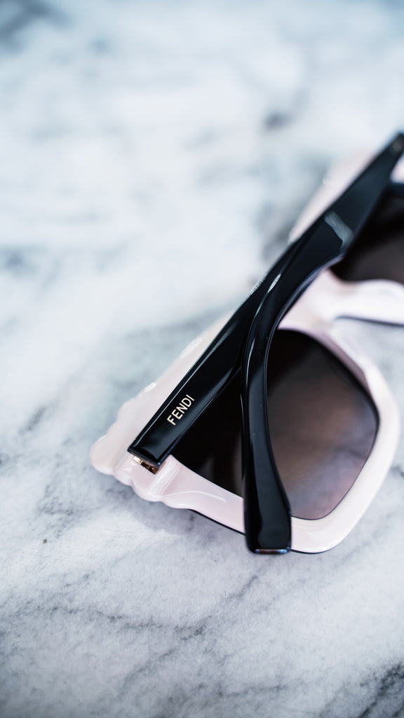 Fendi Black Square Studded Sunglasses