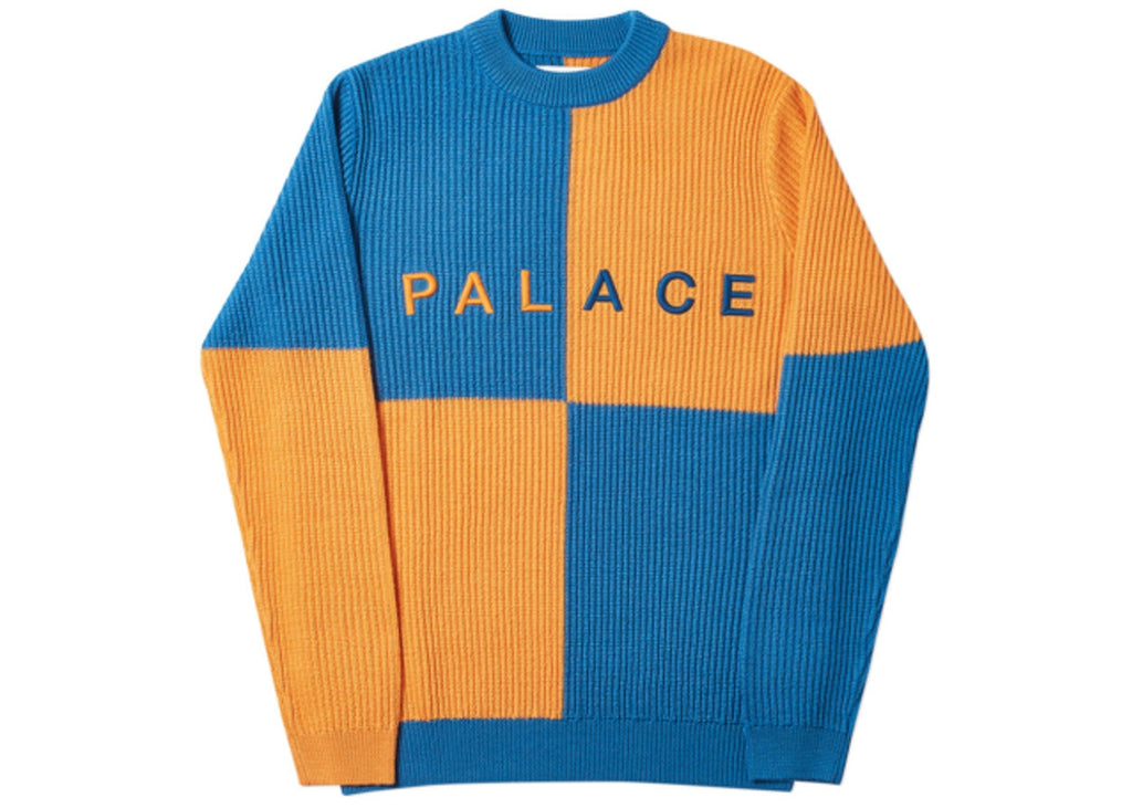 Palace Batton-Berg Knit, Blue/Orange