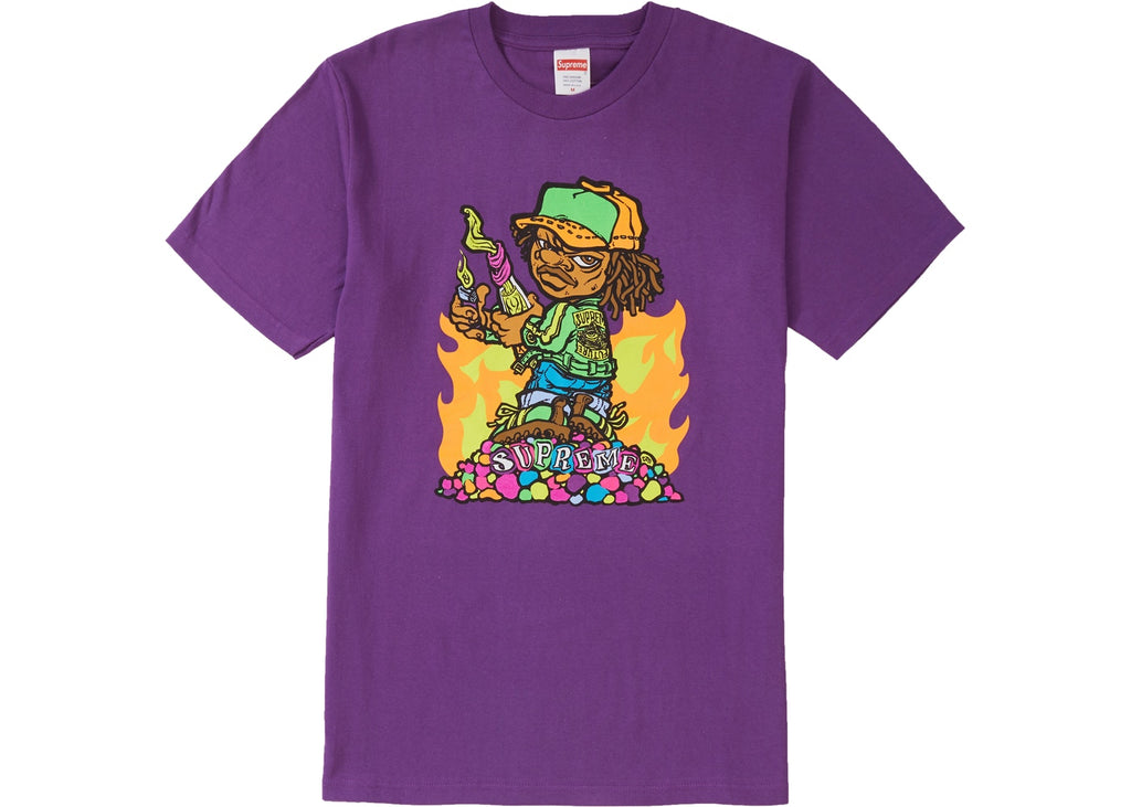 Supreme Molotov Kid Tee, Purple