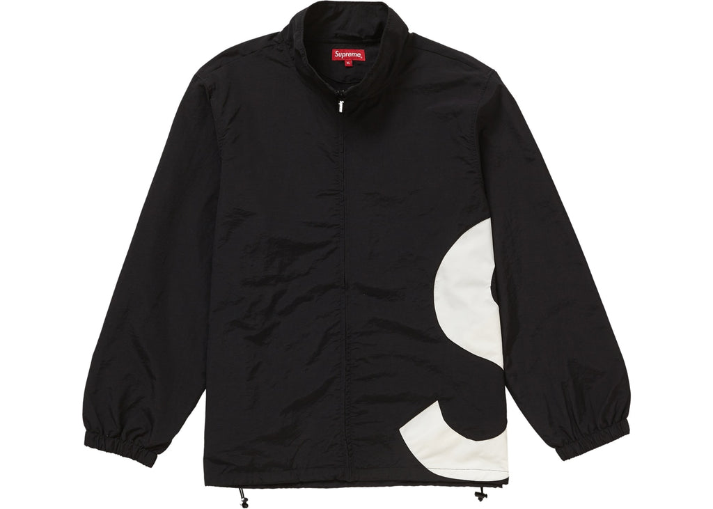 Supreme S logo Track Jacket, Black