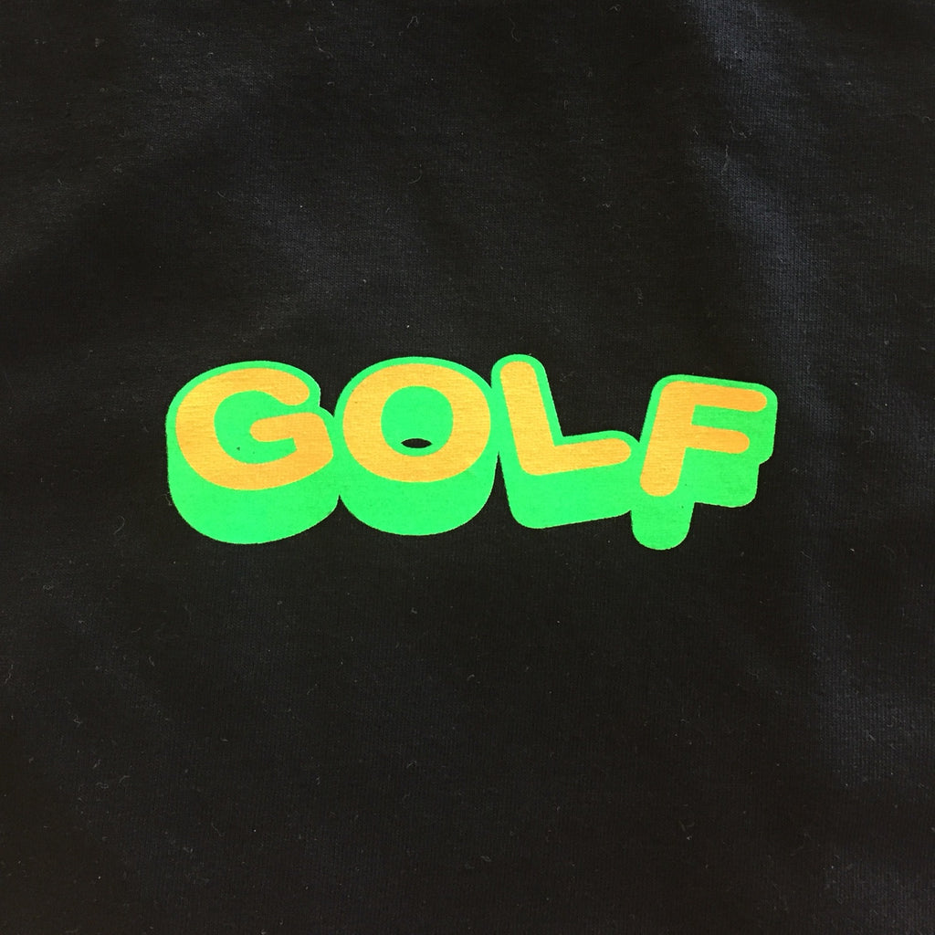 "Golf Wang ""Golf"" Logo Tee Green/Orange, Black"
