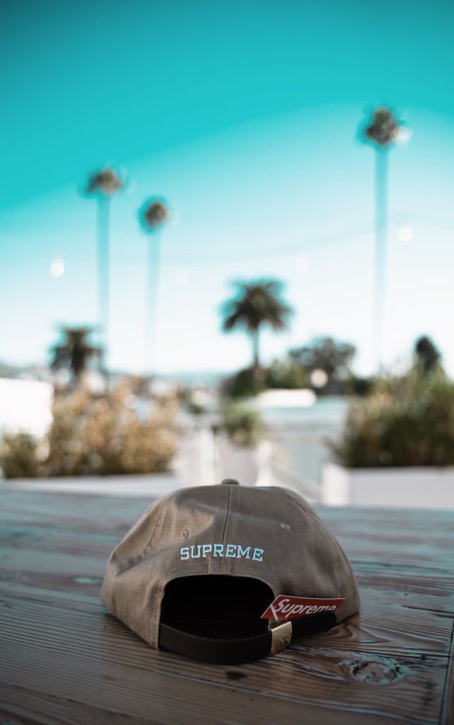Supreme Chino twill gel S logo cap, tan