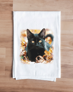 Black Cat Towel