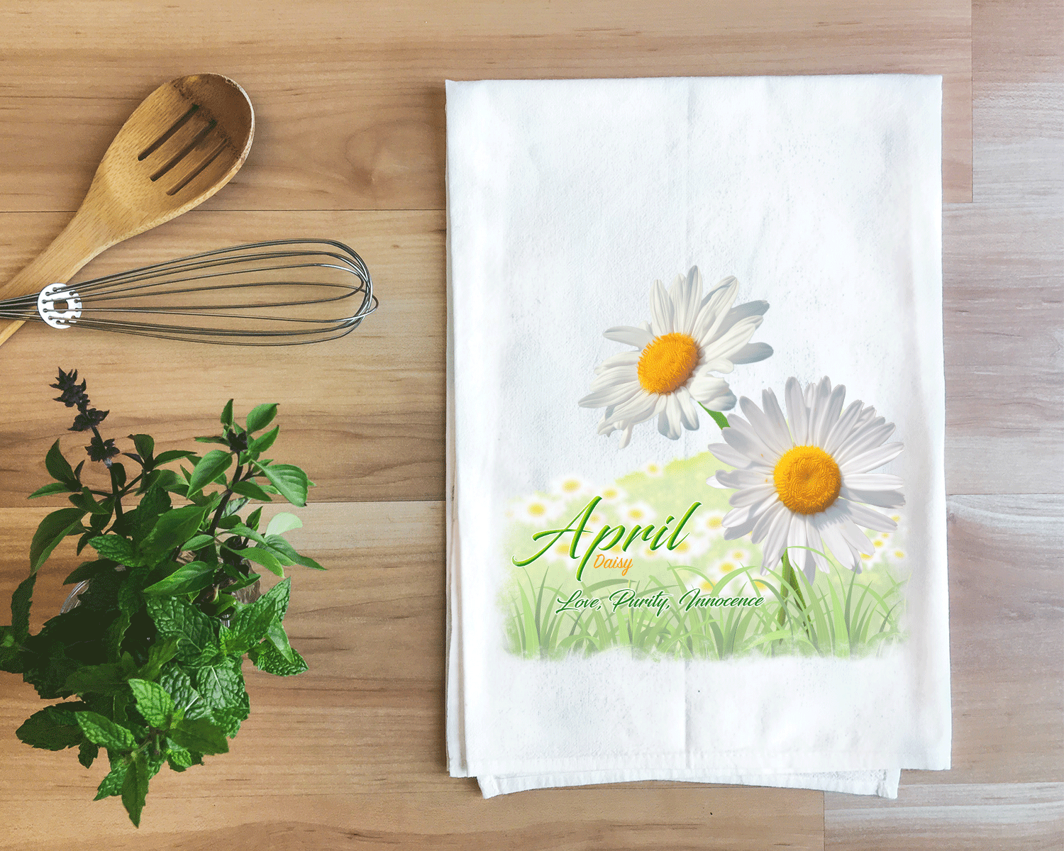 Daisy - April Flower Towel