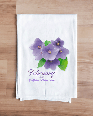 Violet - February Flower Towel