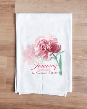 Carnation - January Flower Towel