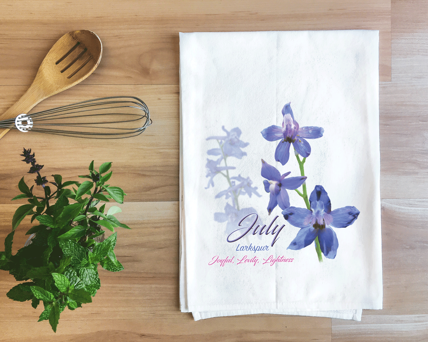 Larkspur - July Flower Towel