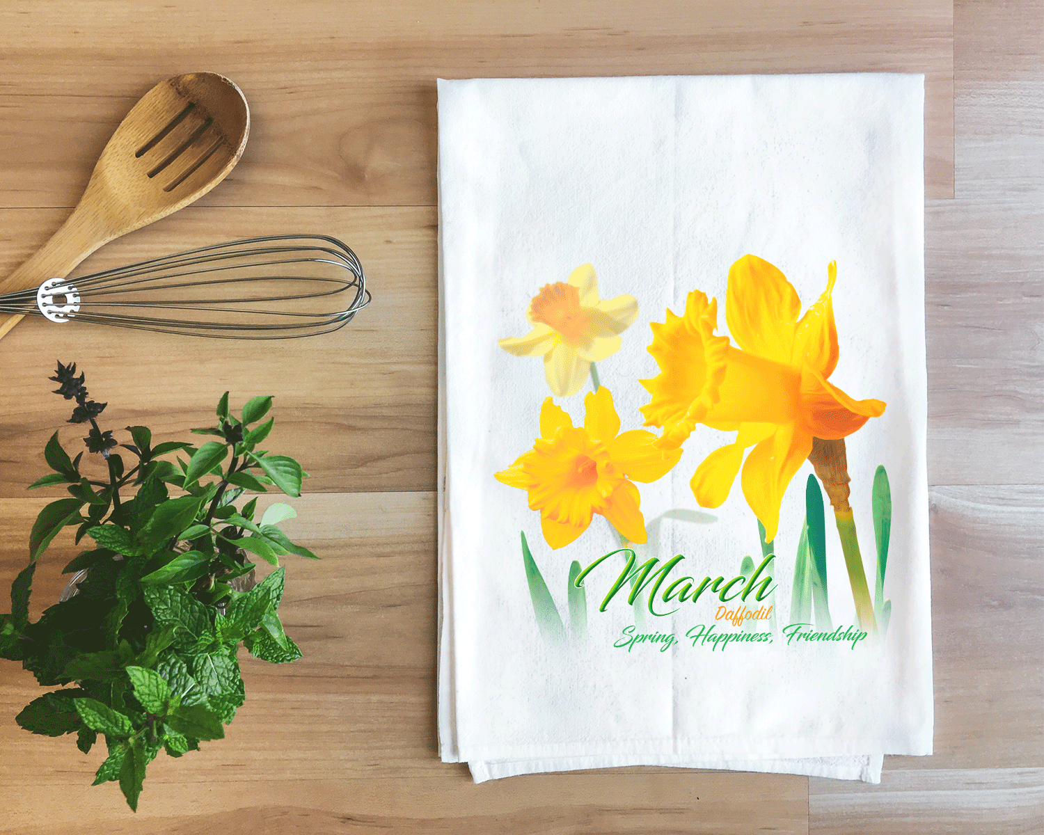 Daffodil - March Flower Towel