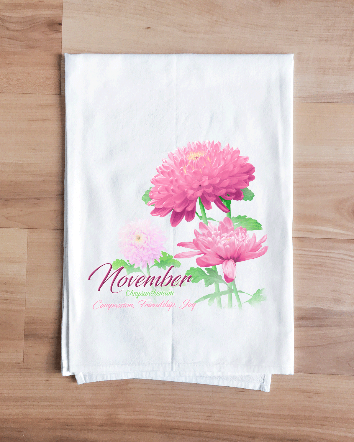 Chrysanthemum - November Flower Towel