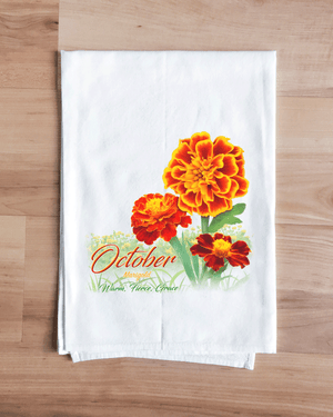 Marigold - October Flower Towel