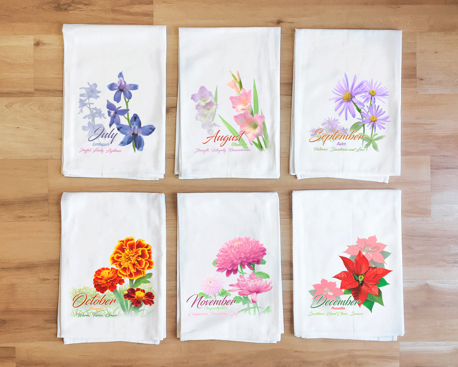 Aster - September Flower Towel