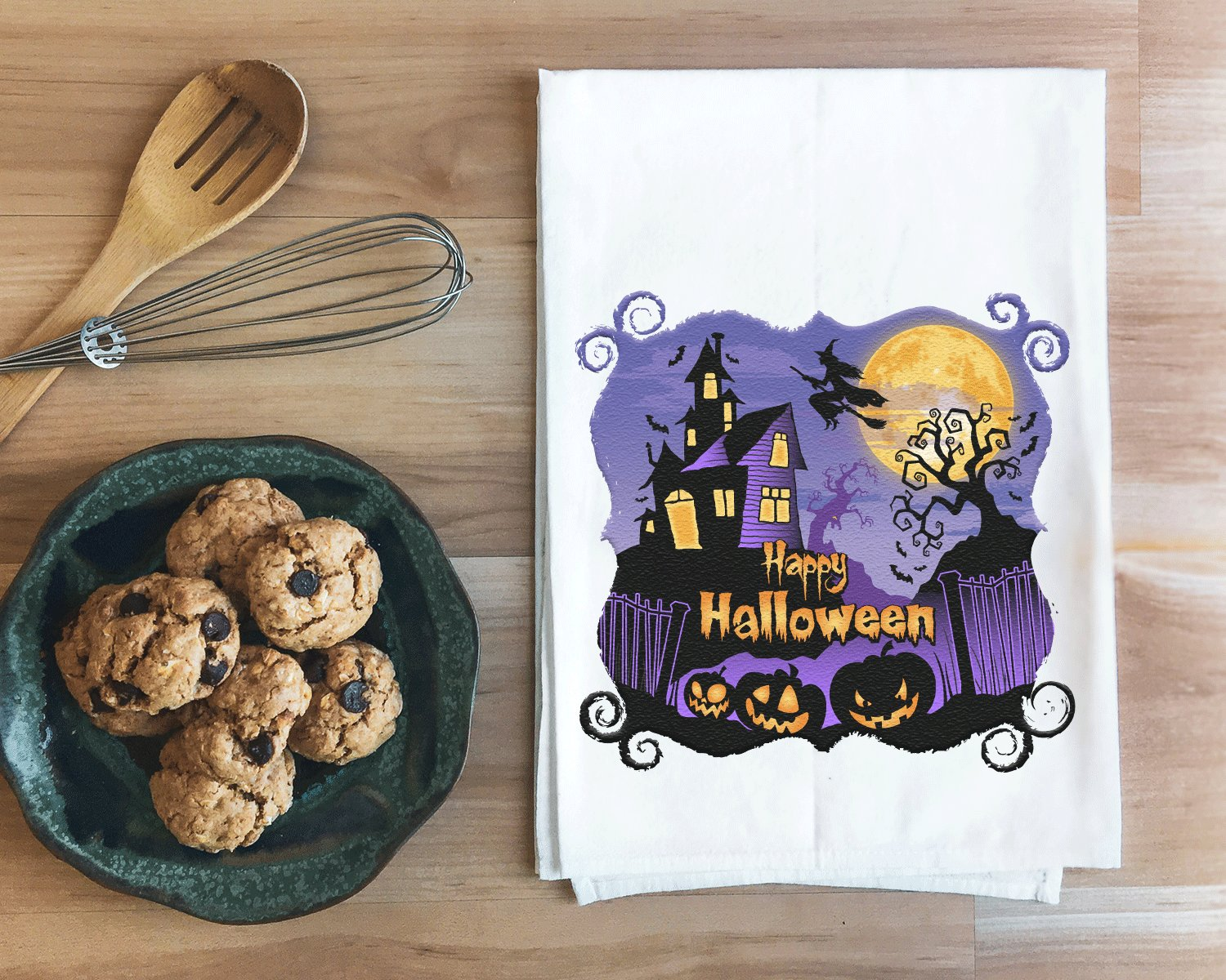 Haunted House Halloween Towel
