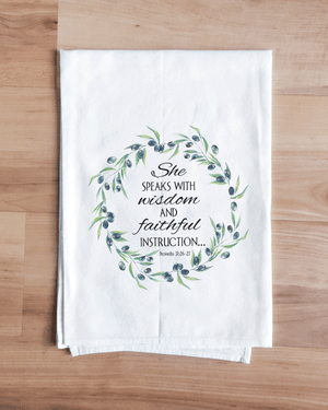 She Speaks with Wisdom Towel