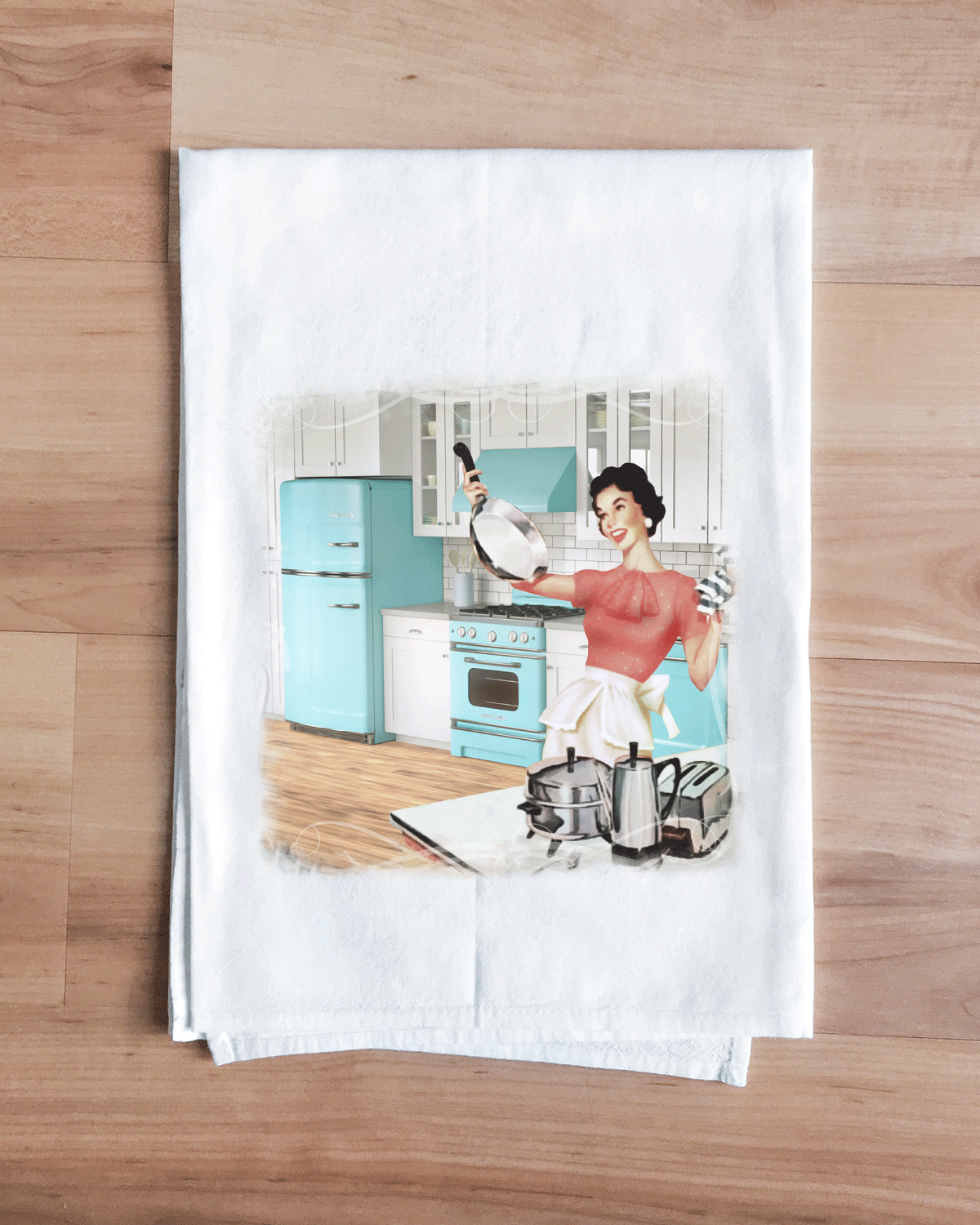 Turquoise Classic Kitchen Towel
